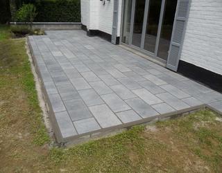 Terrasse en pierre bleue Belge