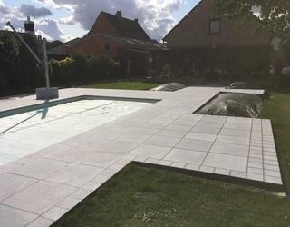 Pierre bleue pour une piscine & Terrasse
